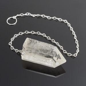 Биолокационный маятник кристалл (необработанный) горный хрусталь  (биж. сплав)