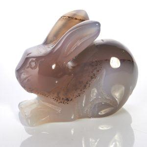 Кролик агат серый  4,5-5 см