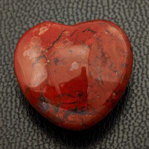 Сердечко яшма красная  2,5 см
