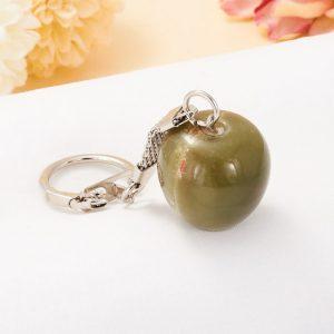 Брелок яблоко оникс мраморный  2-2,5 см