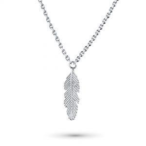 Колье из серебра с бриллиантом