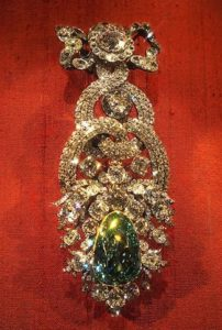 Знаменитые алмазы Дрезденский зеленый бриллиант (41 карат)