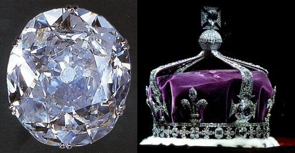 Знаменитые алмазы «Кохинур» (187 карат)