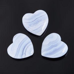 Сердечко агат голубой  2,5 см