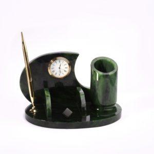 Письменный набор нефрит зеленый  23х14х14 см