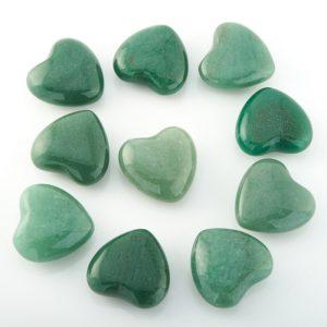 Сердечко авантюрин зеленый  2,5 см