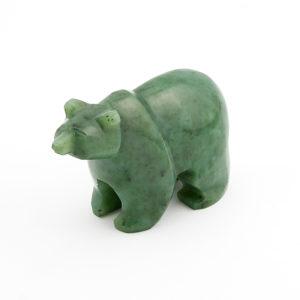 Медведь нефрит зеленый  6,5 см