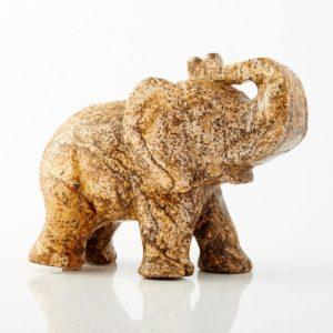 Слон яшма рисунчатая  7 см