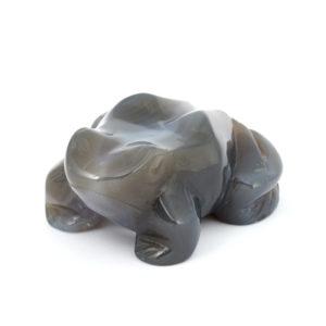 Лягушка агат серый  7,5 см