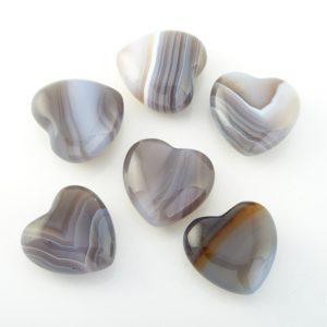 Сердечко агат серый  2,5 см