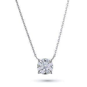 Колье из белого золота с бриллиантами