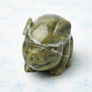 Свинка офиокальцит  6,5 см
