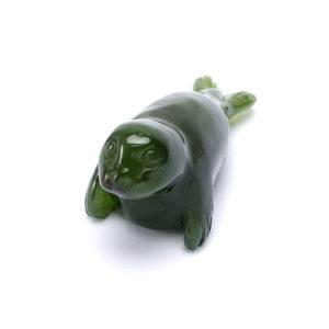 Тюлень нефрит зеленый  4 см