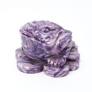 Жаба денежная чароит  10 см