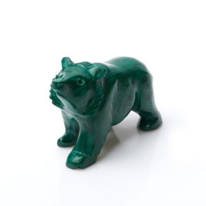 Медведь малахит  7 см