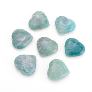 Сердечко амазонит  2,5-3 см