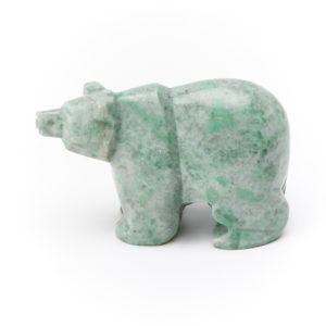 Медведь жадеит  7,5 см
