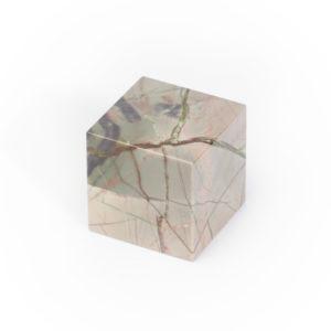 Куб яшма уральская  3 см