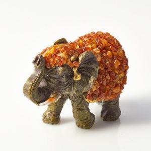 Слон янтарь  7х4,5х3,5 см