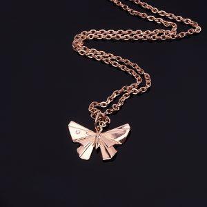 Кулон бриллиант  бабочка огранка (серебро 925 пр., позолота)