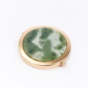 Зеркало нефрит зеленый  7 см