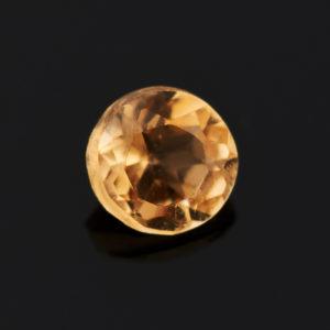Огранка цитрин  круглая 2 мм