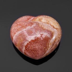 Сердечко яшма пестроцветная  (6 см) 1 шт