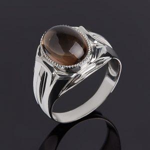 Кольцо раухтопаз  (серебро 925 пр.) размер 20
