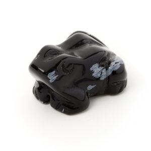 Лягушка обсидиан снежный  3-4 см