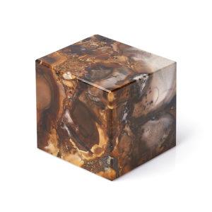 Куб агат пейзажный  6,5 см