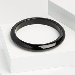 Браслет нефрит черный  цельный 20 см