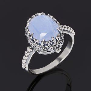 Кольцо агат сапфирин  (серебро 925 пр. оксидир.) размер 18
