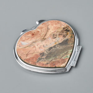 Зеркало яшма уральская  7х6,5 см
