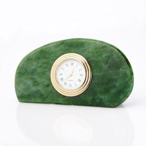 Часы нефрит зеленый  6х11,5 см