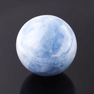 Шар кальцит голубой  9,5 см