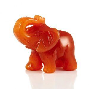 Слон сердолик  5 см