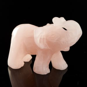 Слон розовый кварц  4,5-5 см