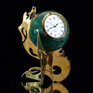 Часы шар нефрит (d=8 см)