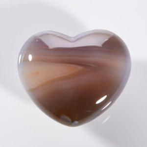 Сердечко агат серый  4 см