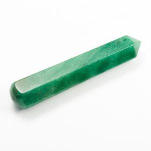 Массажная палочка авантюрин зеленый  8-10 см