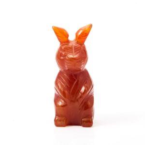 Заяц сердолик  5 см