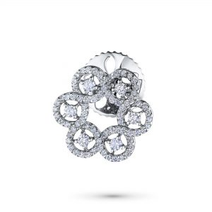 Брошь из белого золота с бриллиантами